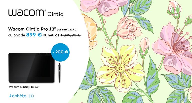 Baisse de prix sur les Cintiq 13